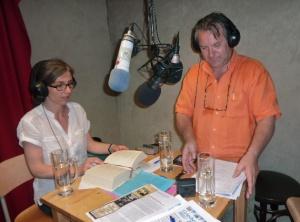 """Redaktion """"Griechisches Haus"""" bei Radio LORA München."""