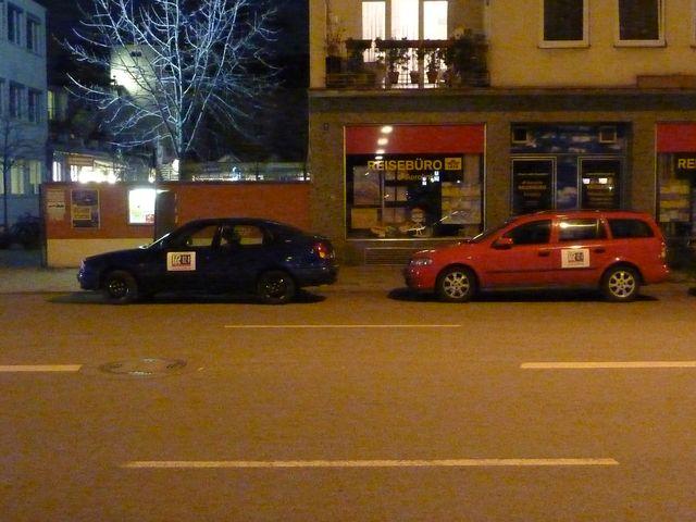 LORA-Fest 2011 Autos mit LORA-Logo