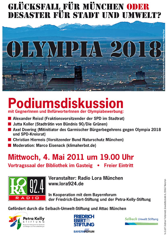 Ankündigung Podiumsdiskussion Olympia 2018