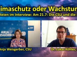 Klimaschutz oder Wachstum? Parteien im Interview. Am 21.7.: Die CSU und die FDP